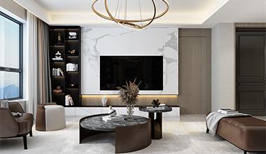 金茂府168平现代轻奢风格装修设计
