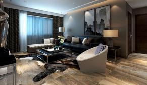 黄金山水郡230平四室大户型冷色调现代简约装修效果图