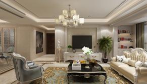 财富中心175平欧式风格装修效果图