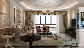 拉菲公馆294平美式轻奢风格装修效果图