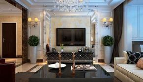 美林花园150平欧式风格装修效果图