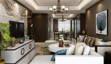 财富中心新中式四室装修效果图
