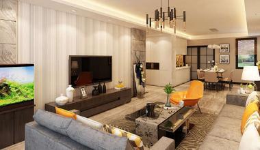汉峪海风130平3室一厅现代简约装修效果图