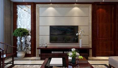 海尔绿城锦兰园150平新中式风格装修效果图