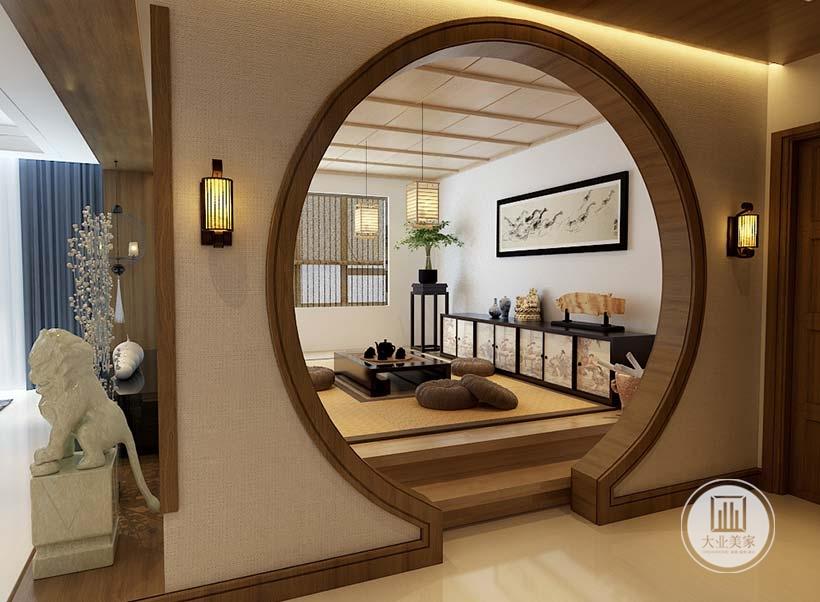 空间装饰多采用简洁硬朗的直线条是居室风格的强烈展现,茶室装饰极具传统韵味,灯笼造型照明,复古精致,不仅反映出现代人追求简单生活的居住要求,更迎合了中式家具追求内敛、质朴的设计风格
