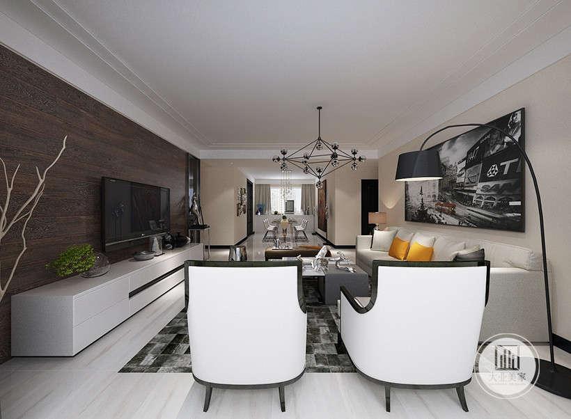 长壁吊灯凝结着设计师的独具匠心,增加居室艺术氛围,又可调节光源角度,既美观又实用。