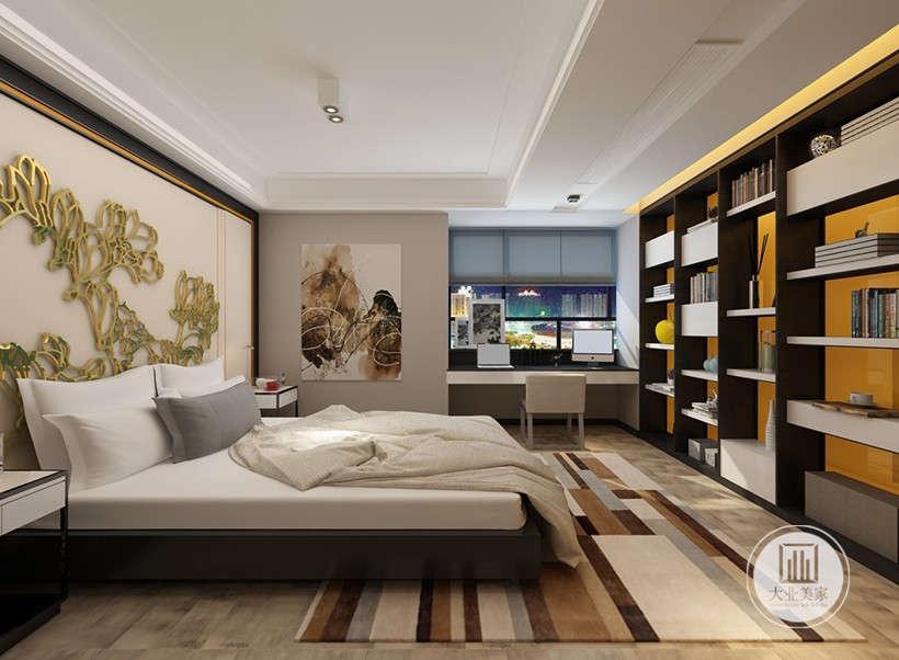 木与金属的组合,给人亲切的现代感。墙体与橱柜不同的质感,多元化构成弹性收纳展示空间,香港的精巧也得以显现。
