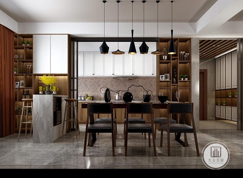 自然的木质色调使餐厅充满休闲的氛围,以简胜繁的简约装饰风格是快节奏都市生活的休恬的港湾。