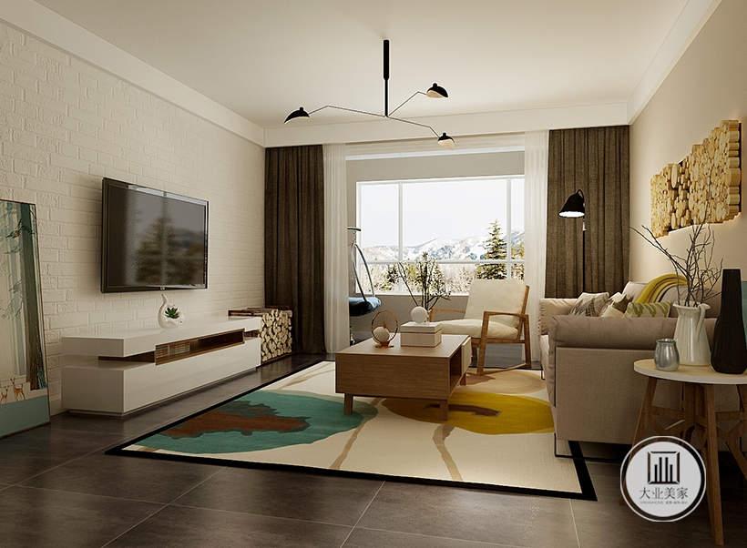 从这里可以看到客厅空间装饰布局。