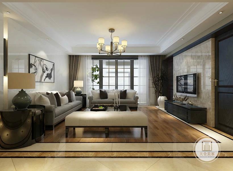 客厅是除卧室外使用率最高的场所,设计上以舒适度为主,选择高级灰为主要色调,搭配流行的白棕色点缀,大气高雅,软装分布和配饰,色彩搭配合理,空间感更强。