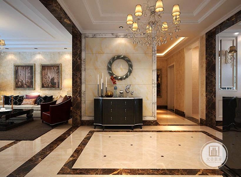 挂画配饰被布置在特殊空间,有了挂画的点缀,家居空间的文艺气息更加充裕,从而彰显室内的古典气质。