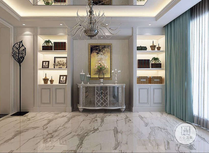 大理石与黄铜元素碰撞,复古怀旧,格调非凡,空间感满满的格调与质感。