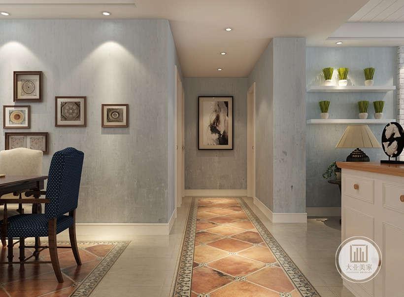 大理石地面和灰色墙面,营造出古朴、典雅的气氛。居室大量绿植,代表了一种自在、随意不羁的生活态度,简约没有太多的修饰与约束,不经意中也能成就一种休闲式的浪漫。