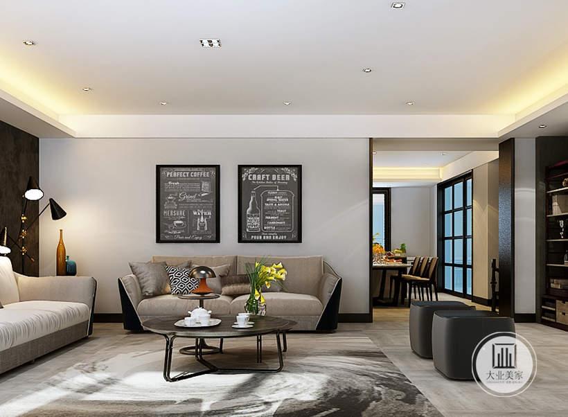从这里可以看到客厅和餐厅的部分布局装饰。