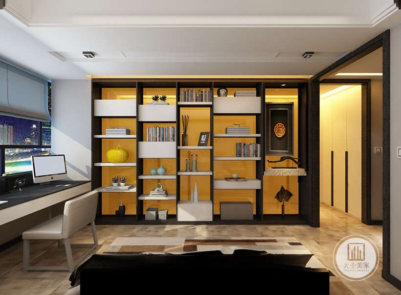居室中要留置读书空间,简明的家具突出实用功能,和谐整体的空间感让人心情愉快,休闲与学习都十分灵活。