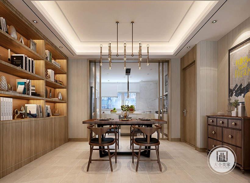 从这里可以看到厨房和餐厅的布局装饰。