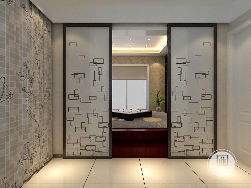 移门使用方便,窗帘和移门色彩保持一致,居室隔断优雅自然。