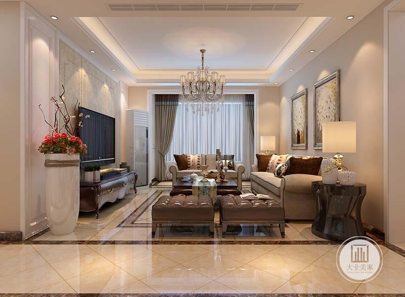 从这里可以看到客厅的整体布局装饰。